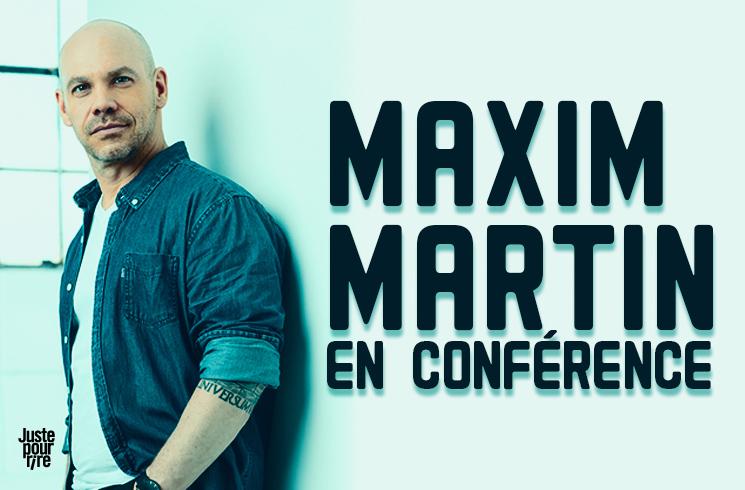 Maxim Martin en conférence